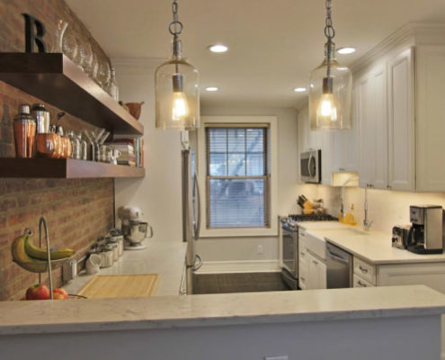 kitchen cabinets with lighting