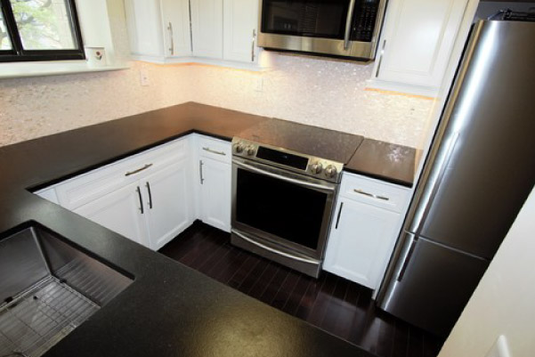 top view of remodeled kitchen